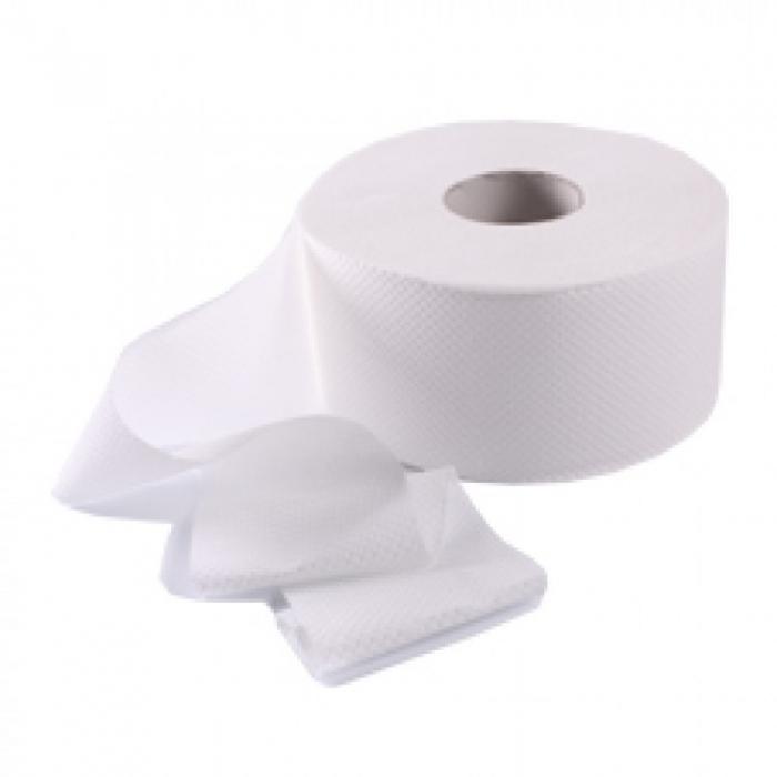 Туалетная бумага белая двухслойная целлюлоза Джамбо
