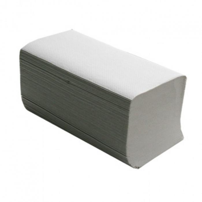 Полотенца бумажные белые однослойные, V укладки