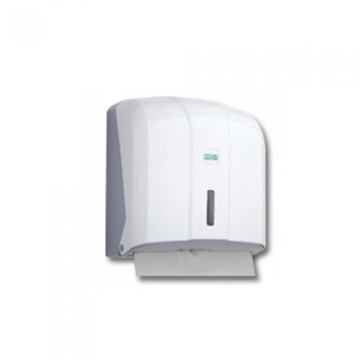 Диспенсер бумажных полотенец укладка C-V формы, (белый) K4