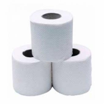 Туалетная бумага белая однослойная